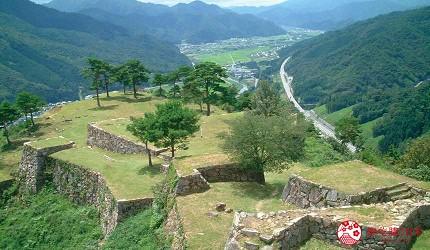 竹田城僅剩下石垣的遺跡