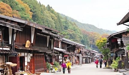 「奈良井宿」是日本最長的宿場町