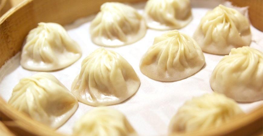 台灣美食小吃小籠包示意圖