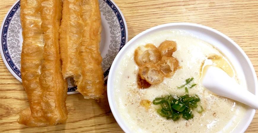 台灣美食小吃豆漿油條示意圖