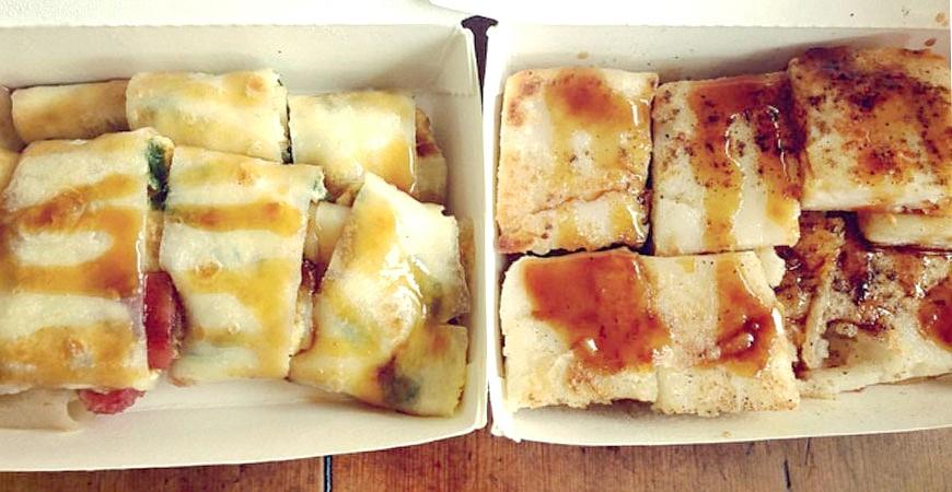 台灣美食小吃蛋餅蘿蔔糕示意圖