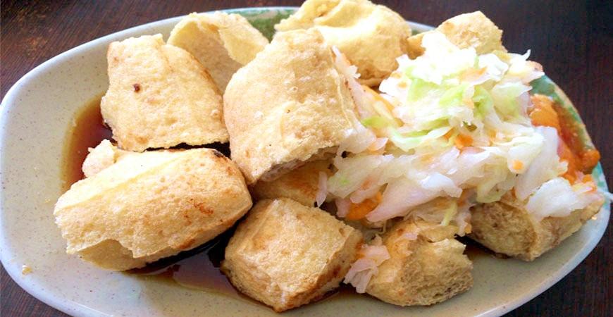 台灣美食小吃臭豆腐示意圖