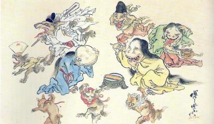 你不學永遠不知道的日本四字熟語《數字篇》的「百鬼夜行」形象圖
