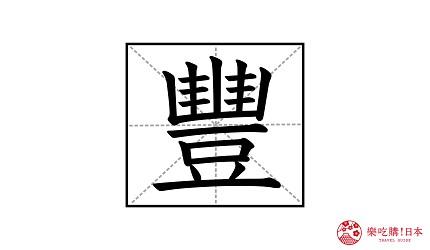 中文繁體漢字「豐」