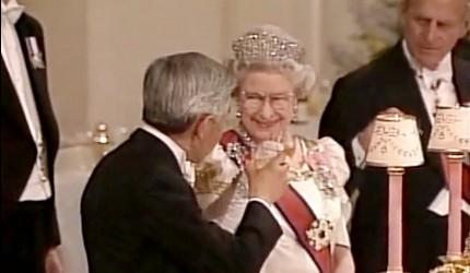 日本明仁上皇與英國伊麗莎白女王