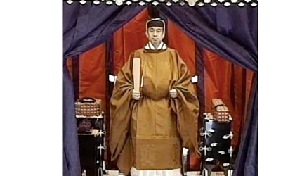 日本明仁上皇即位時照片