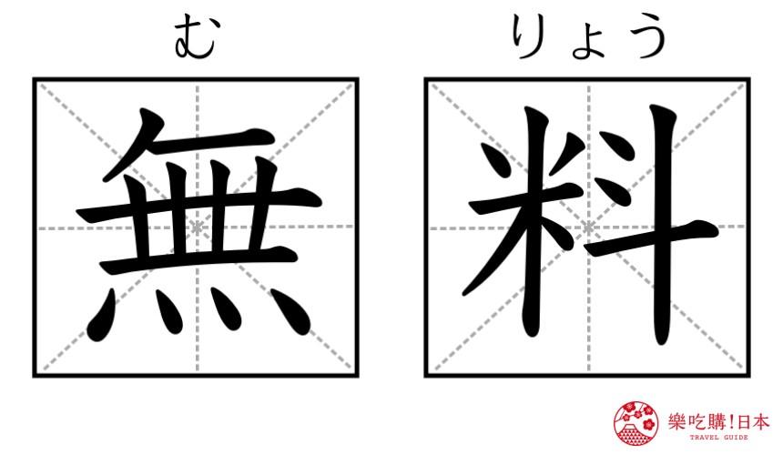 日本餐厅必记单字「无料」(免费)示意图
