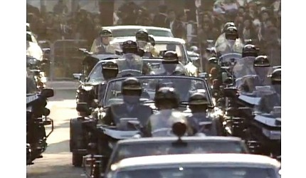 日本明仁天皇即位後的「祝賀御列之儀」