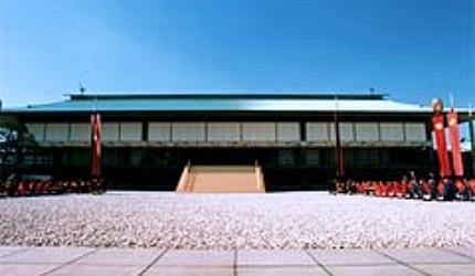 日本明仁上皇即位地點東京皇居