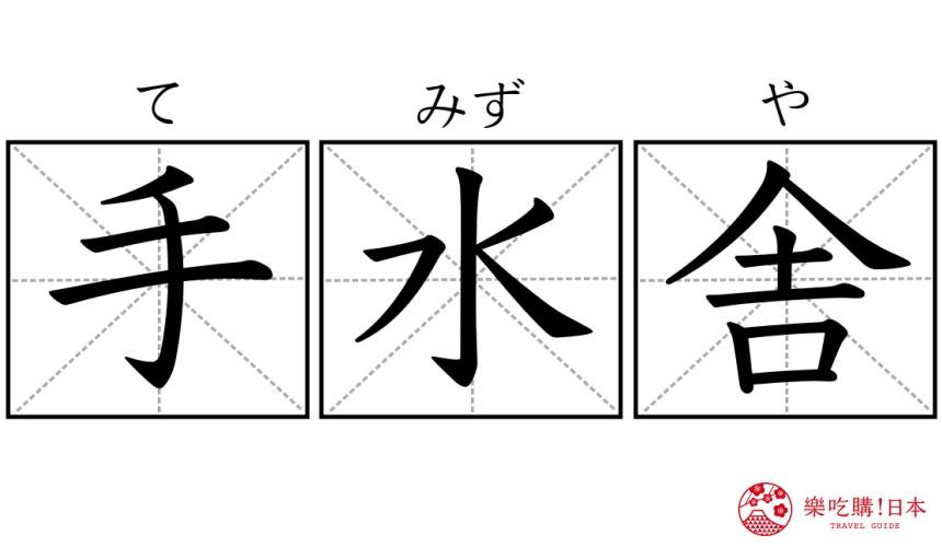 日本神社寺廟的「手水舎」漢字示意圖