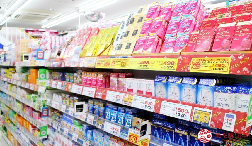 日本必買藥妝松本清店內貨架