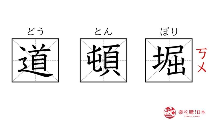 日本「道顿堀」的汉字与读音