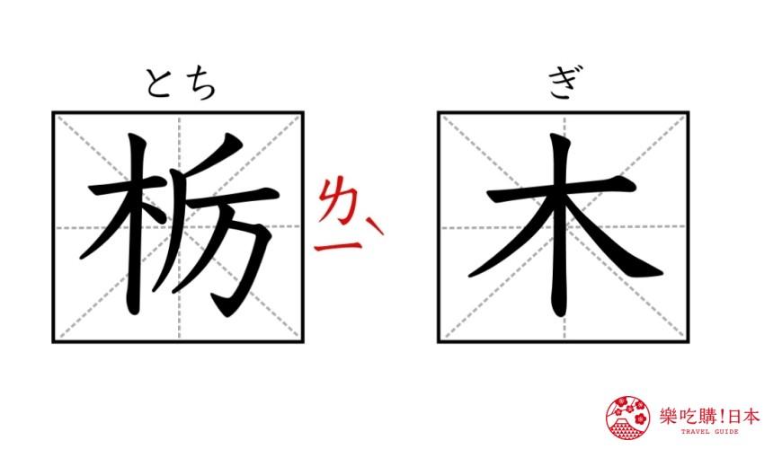 日本「栃木縣」的漢字與讀音