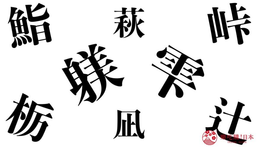 日本和制汉字示意图