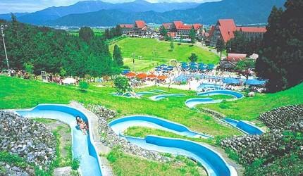 夏天去日本玩水消暑、暑假帶細路旅行放電最好玩的水上樂園精選推介,提供人造浪池、漂流河、巨型滑梯、水上滾筒、水上運動競技設施、兒童嬉水池等水上遊戲設備的水上樂園7選中的Hotel Green Plaza Joetsu(ホテルグリーンプラザ上越)