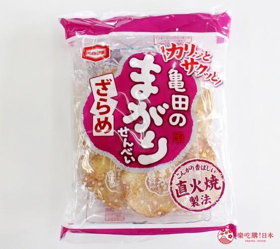 日本必买零食伴手礼龟田弯弯仙贝砂糖口味亀田のまがりせんべい ざらめ外包装