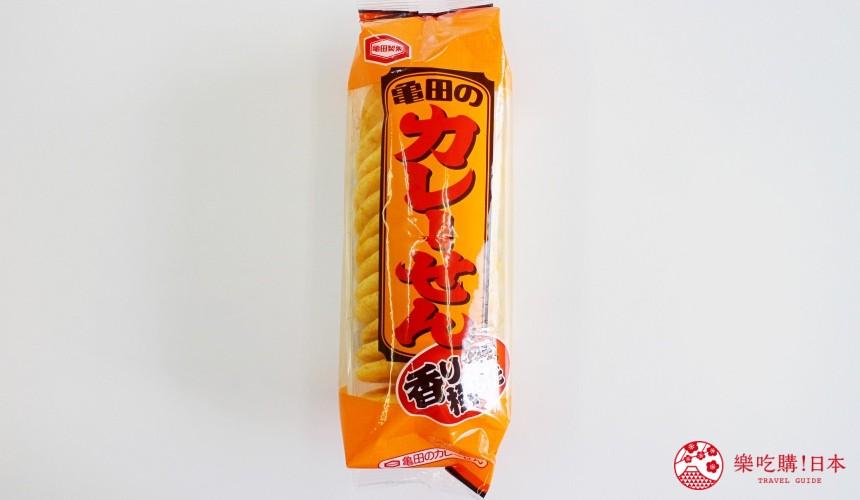 日本必买零食伴手礼龟田咖哩仙贝カレーせん外包装