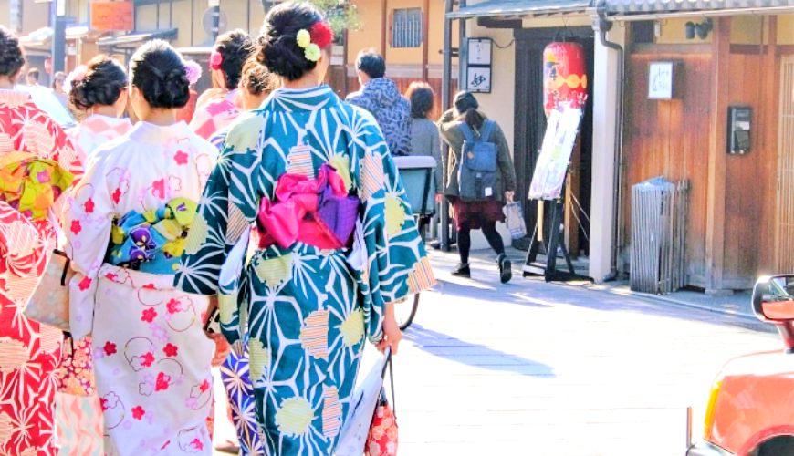 京都自由行必去的「祇园」的花见小路