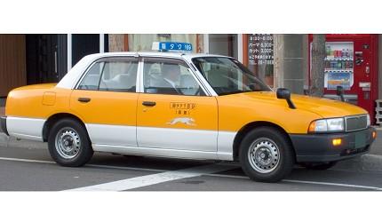 日本東京大阪九州關西沖繩交通方便快捷搭的士計程車taxi的的士都會在車身上標示營業區域