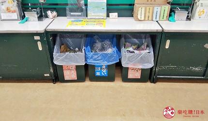 日本超級市場Co-op店內的垃圾桶