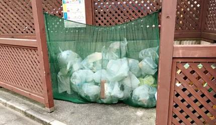 日本街頭供居民放置垃圾的空間