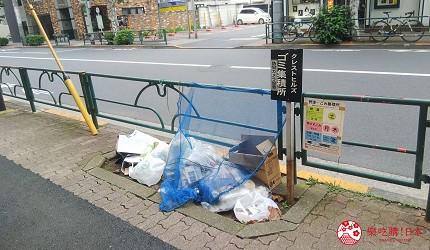 日本街頭的垃圾收集區