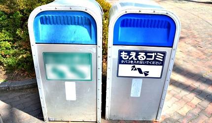 日本街頭可見的可燃垃圾垃圾桶