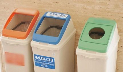 日本的商場可找到的不可燃垃圾桶
