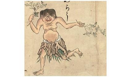 日本妖怪山童形象圖