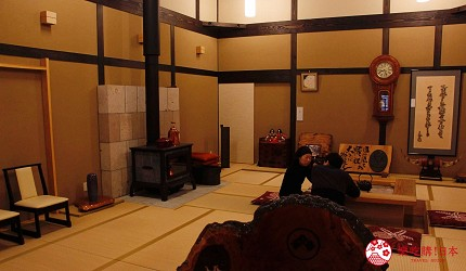 日本妖怪「座敷童子」出沒的綠風莊飯店的大廳