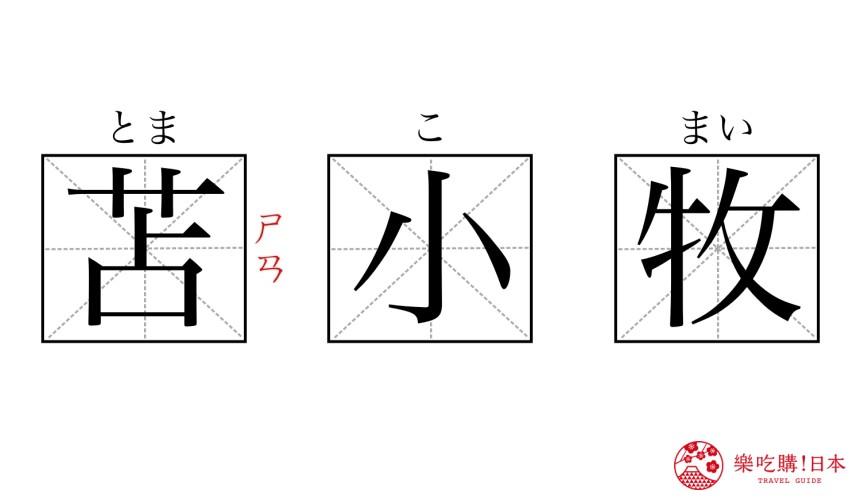 这些超难念日本地名你都会读吗?北海道「苫小牧」汉字读音图
