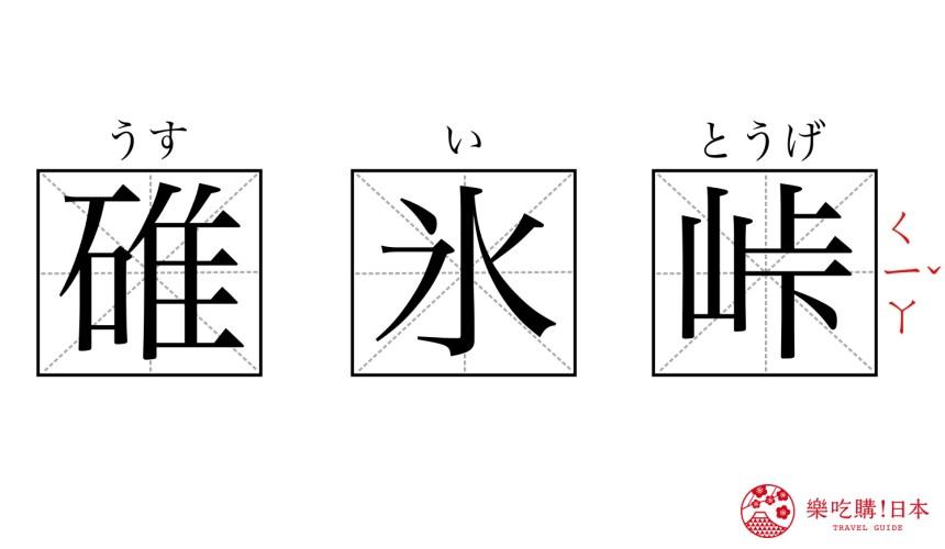 這些超難唸日本地名你都會讀嗎?長野縣「碓氷峠」漢字讀音圖