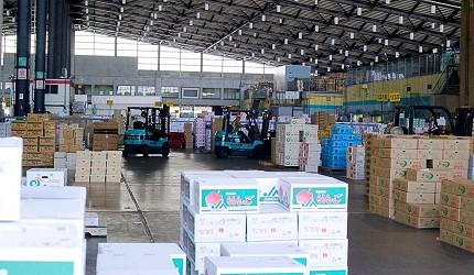 東京都內的生果批發市場大田市場的場境