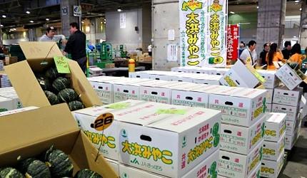 札幌中央批發市場內的貨物