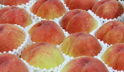 札幌中央批發市場內有售的水蜜桃