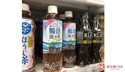 在日本超市可以找到的通便腸活烏龍茶