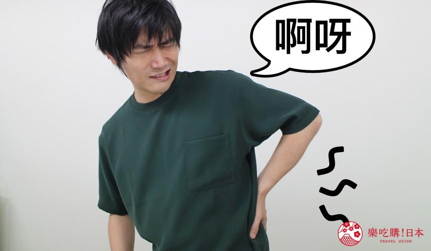日本藥妝必買維他命B群「合利他命」文章各種症狀示意圖之腰痠背痛