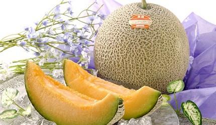 札幌中央批發市場場外市場的藤本青果有售的哈蜜瓜