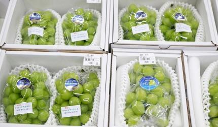 岡山市中央批發市場有售的青提子