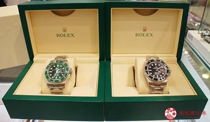 日本超好買的免稅店LAOX內有售賣的勞力士潛水腕錶經典款「SUBMARINER」