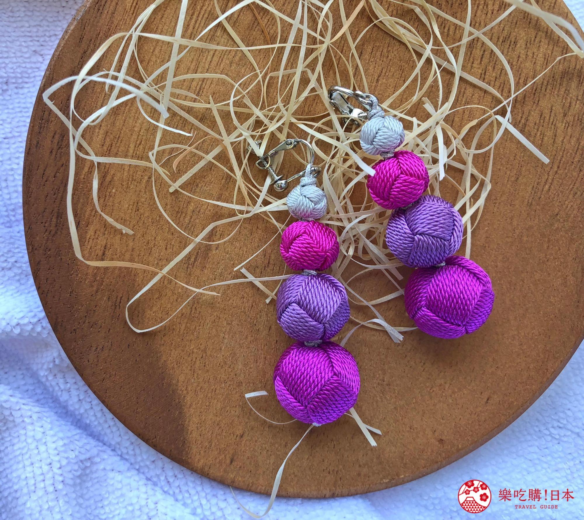 日本樂桃人氣原創設計商品的組紐編繩夾式耳環成串款遠照