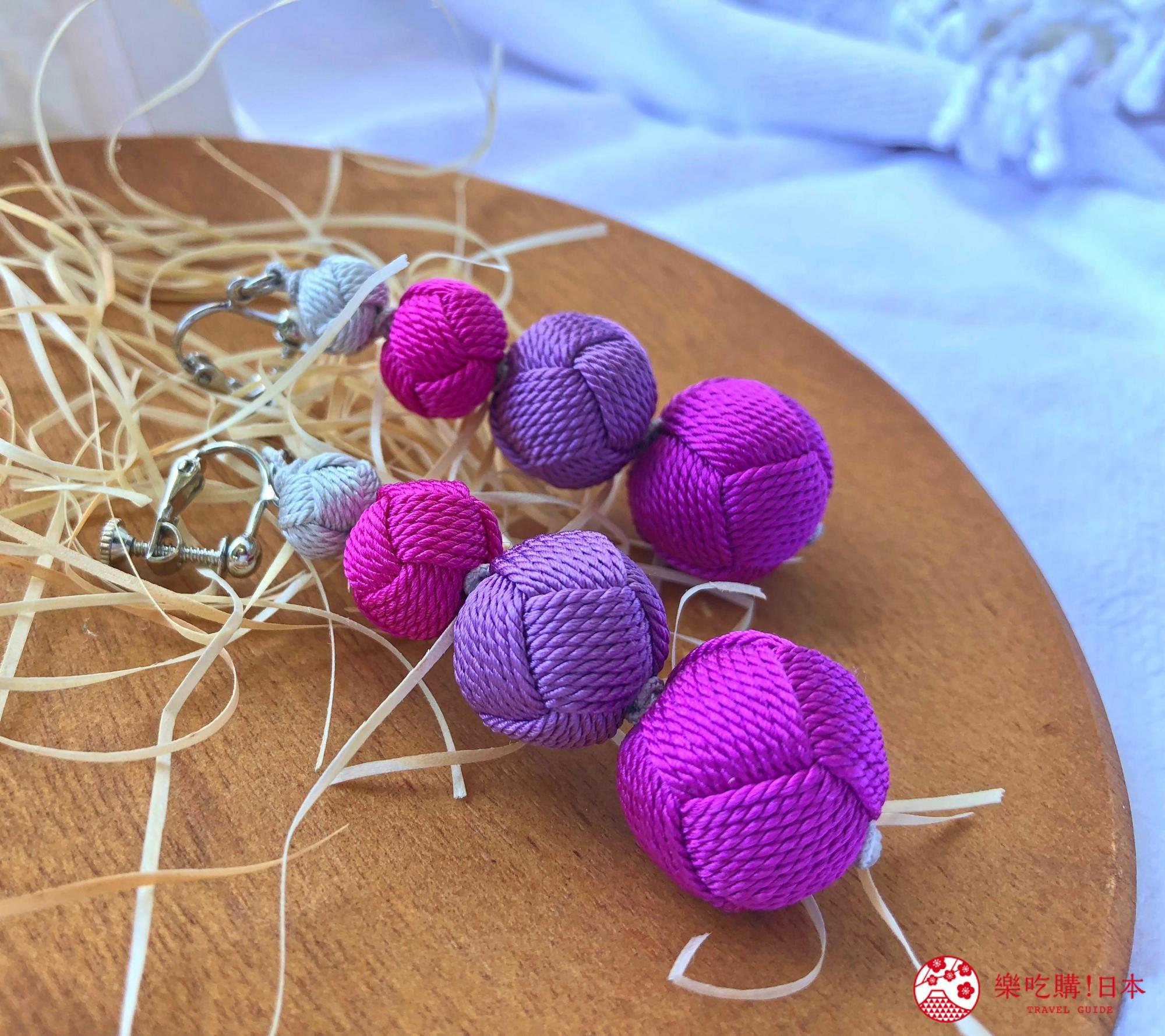 日本樂桃人氣原創設計商品的組紐編繩夾式耳環成串款近照