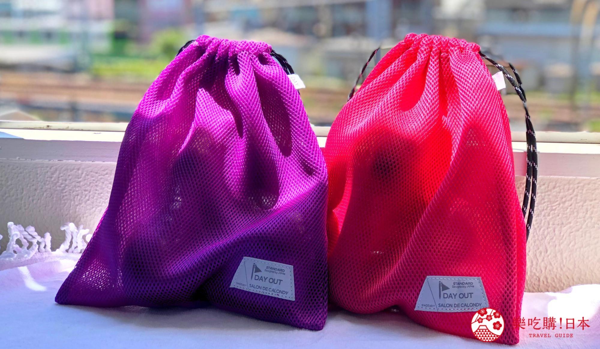 日本樂桃人氣原創設計商品的Peach X DAYOUT 限定色 Rough Bag(M,桃紅/紫)遠照