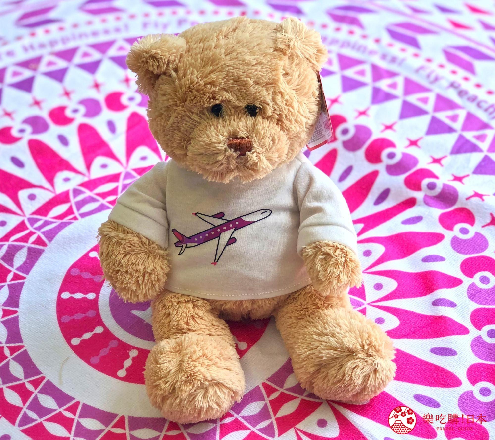 日本樂桃人氣原創設計商品的Peach X GUND 原創設計 T-shirt 泰迪熊(棕色/米色)照片