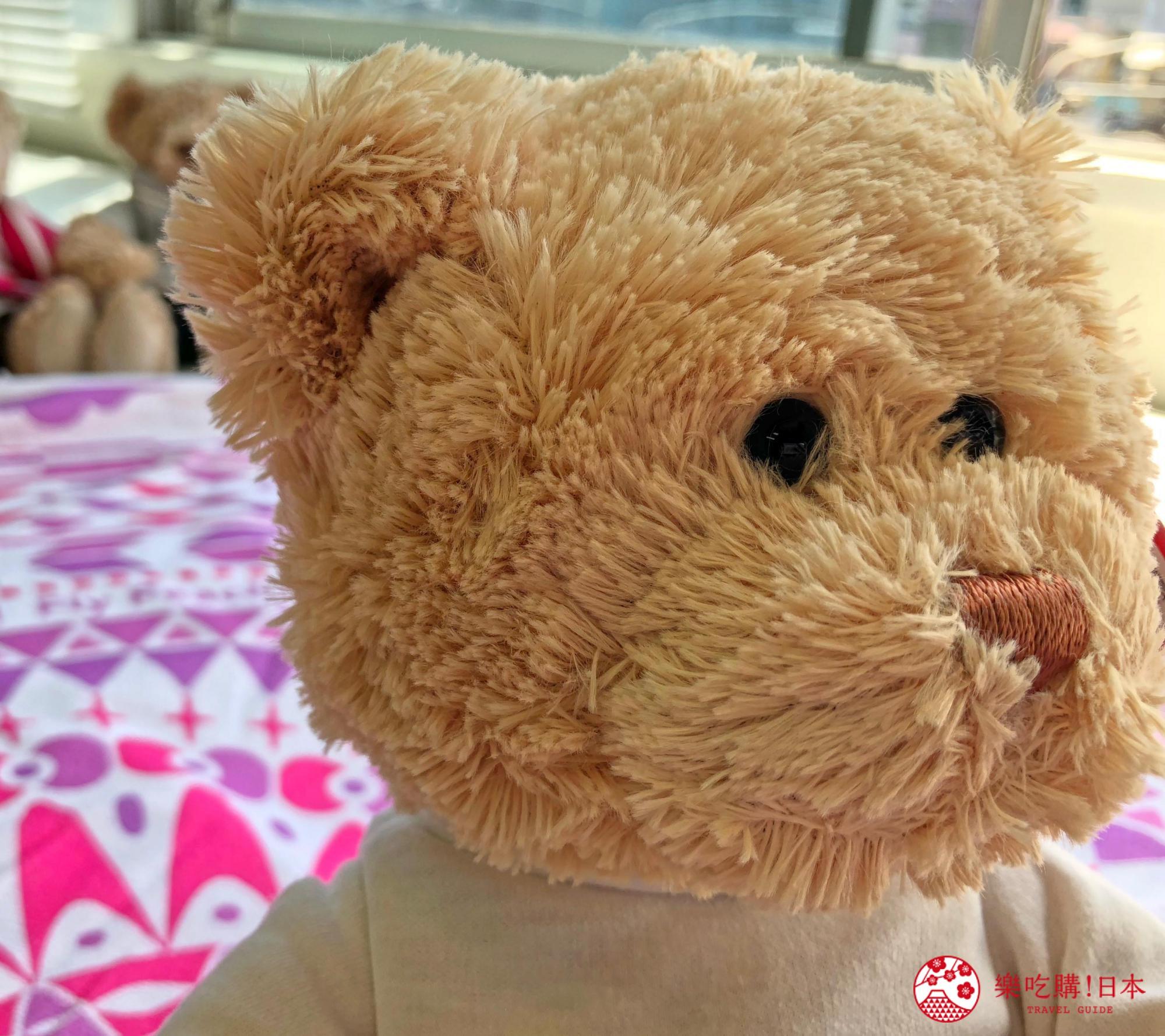 日本樂桃人氣原創設計商品的Peach X GUND 原創設計 T-shirt 泰迪熊(棕色/米色)近照
