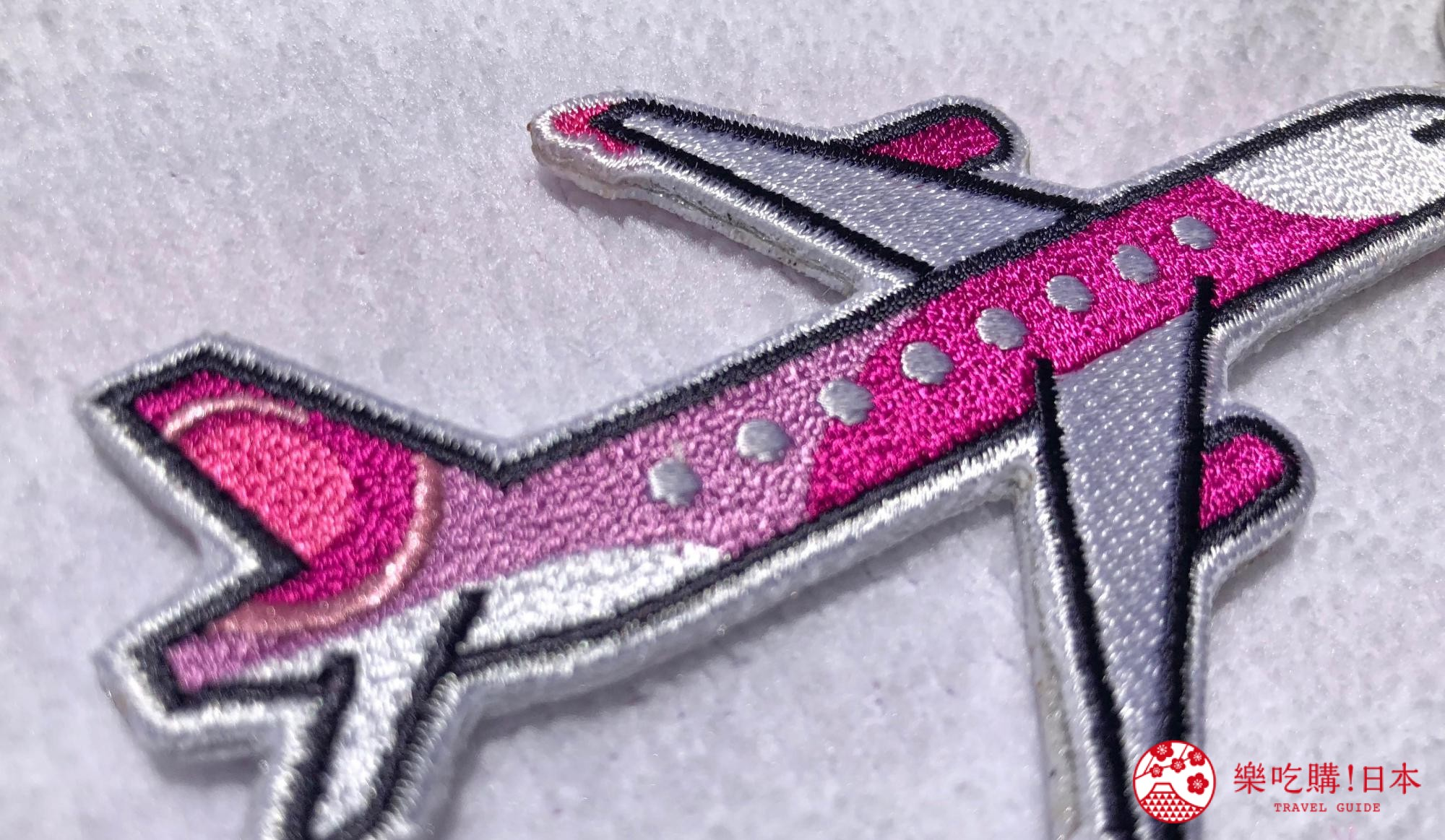 日本樂桃人氣原創設計商品的Peach原創設計刺繡鑰匙圈近照