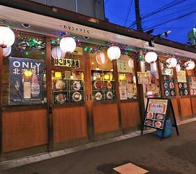 北海道函館函館光之屋台 大門橫丁內的店舖外觀