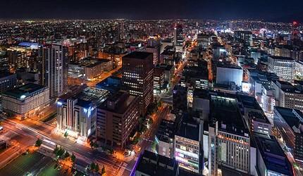 從JR塔外望的北海道城市夜景