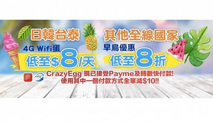 crazyegg的wifi蛋现正进行优惠推广