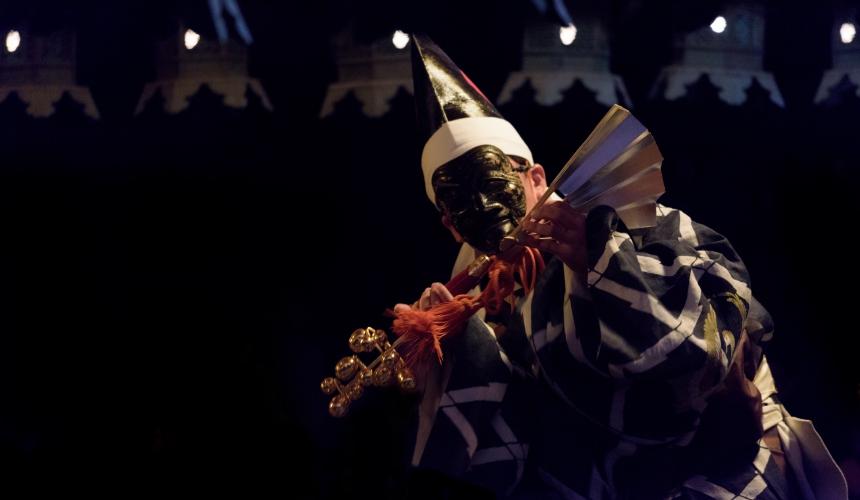 日本傳統藝能三番叟示意圖